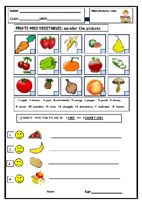 fruits and vegetables TEST.pdf