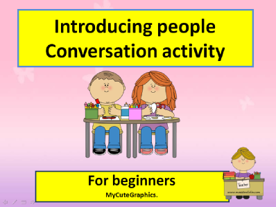 Conversation activity cl 3 by me.pps