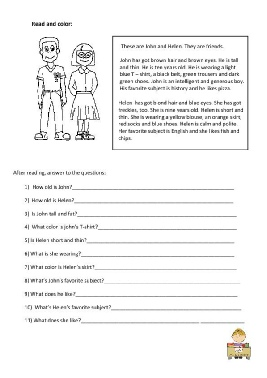 Read and color the children con domande di comprensione-.pdf