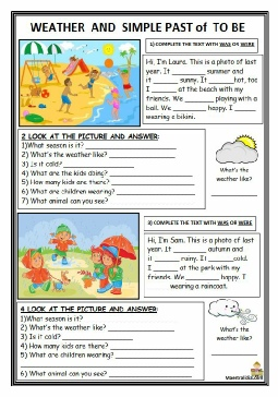 simple past to be- describing picture- weather 20-4-2019.pdf